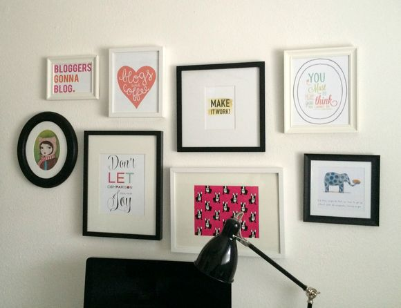 My office gallery wall