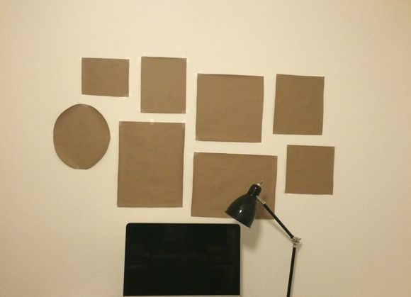 Paper test run of my office gallery wall