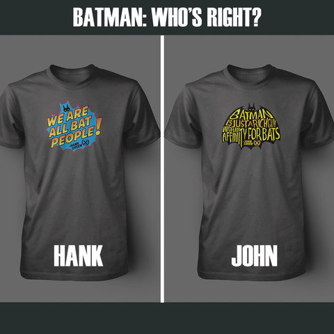 Batman tshirts for voting at DFTBA