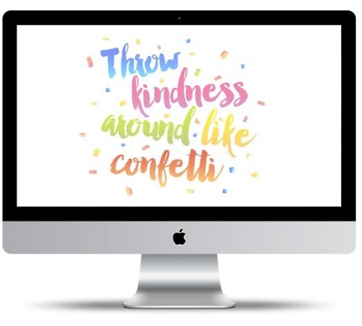Kindness Confetti Desktop Wallpaper by Cottage Market