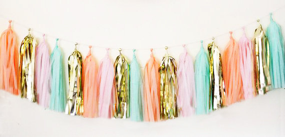 Tassel Garland from PomJoyFun on Etsy