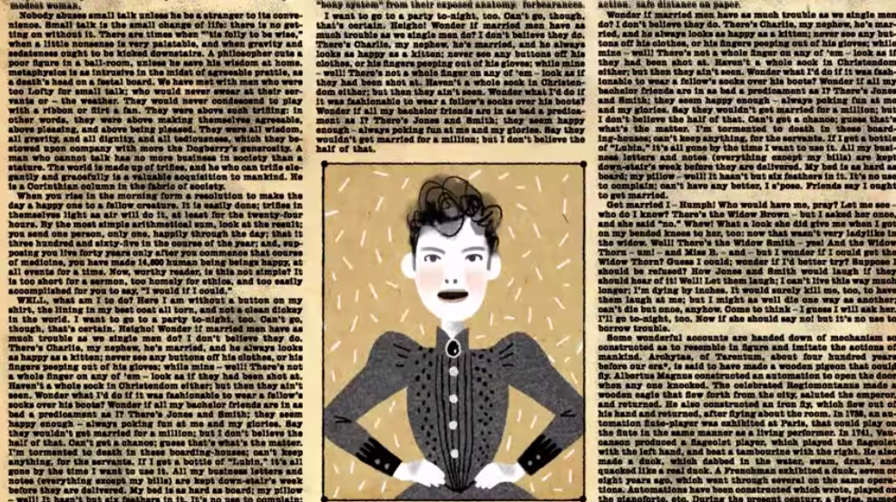Nellie Bly from the Google Doodle