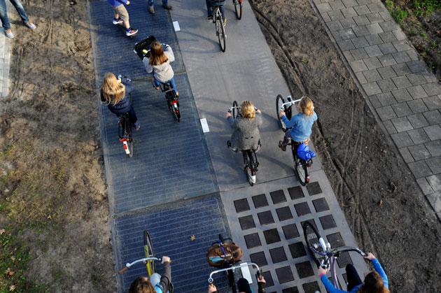 Solaroad's bike path in The Netherlands