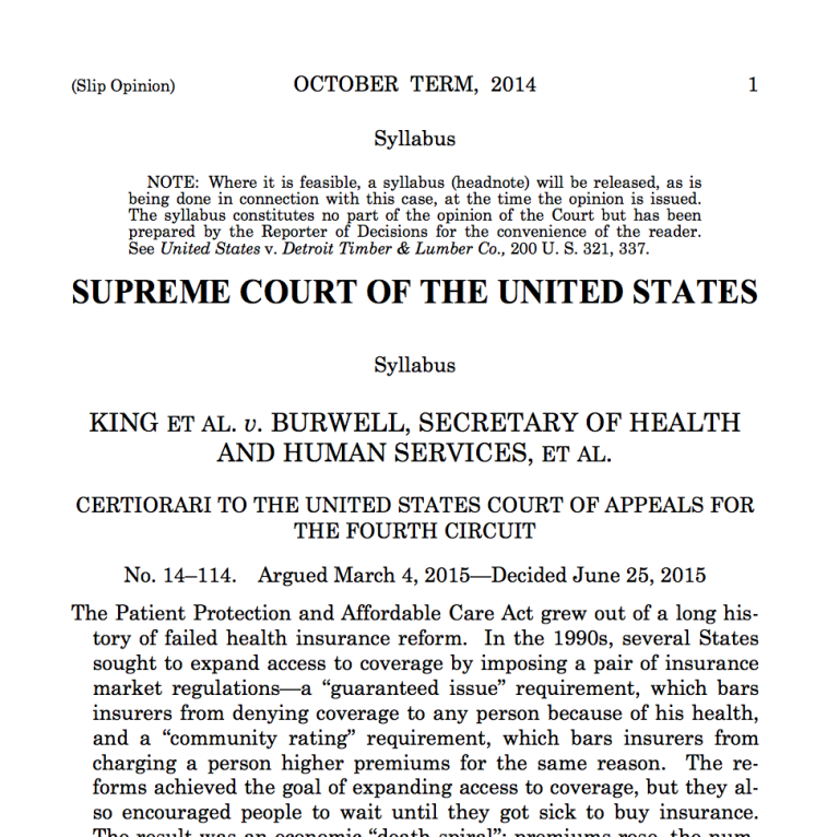 SCOTUS Burwell opinion