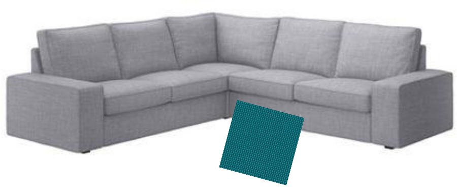 Ikea Kivik Sectional with Teal Swatch  sc 1 st  Sarah.blog : kivik sectional - Sectionals, Sofas & Couches