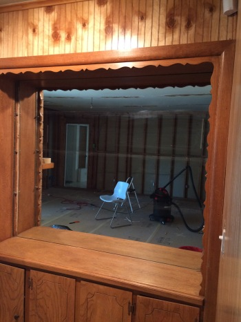 Living Room built in demo