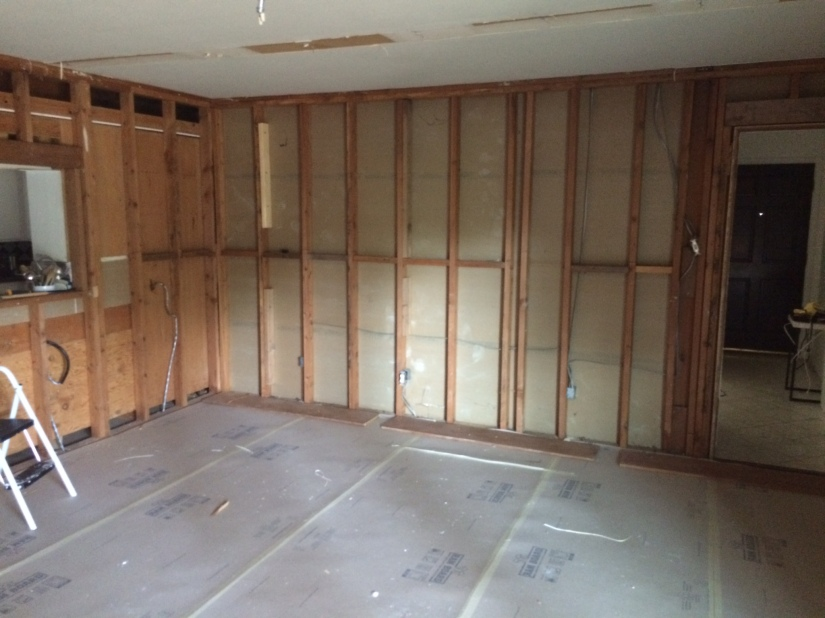 Living Room paneling off