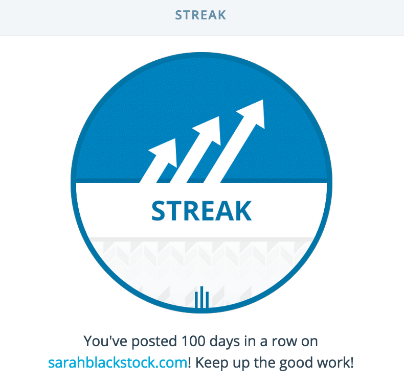 WordPress.com streak - 100 days!