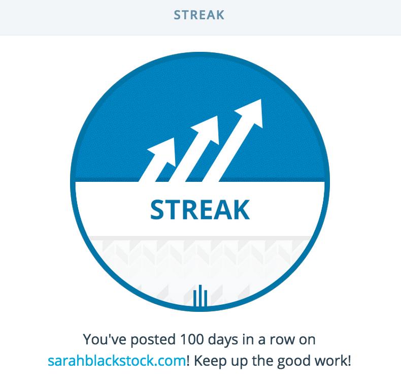 WordPress.com streak - 100 days!