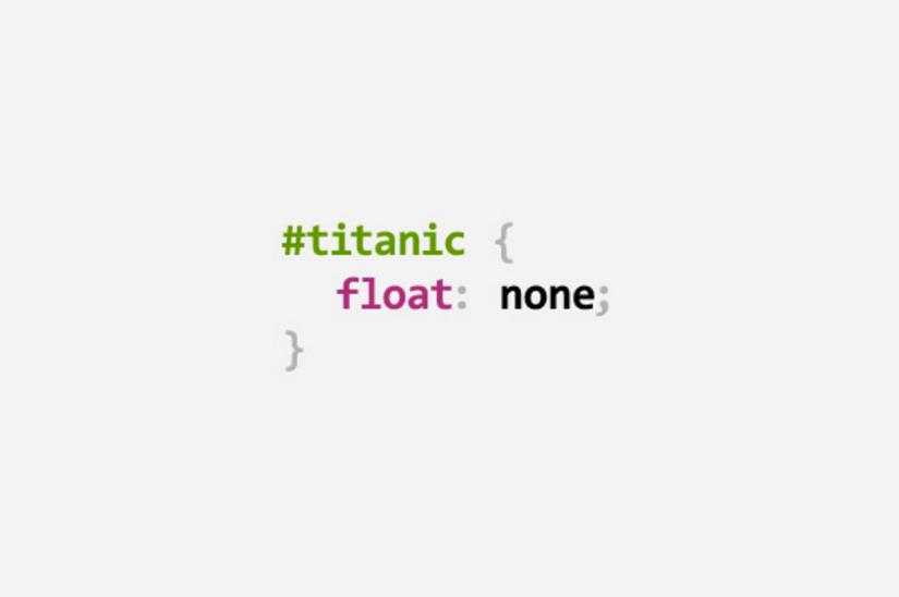 Titanic CSS Pun