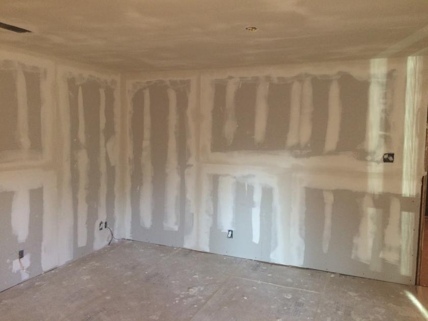 Living Room Walls - New Drywall