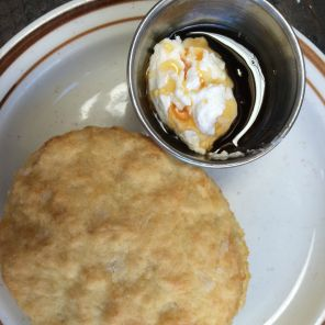 Pine State Biscuits biscuit with honey butter in Portland