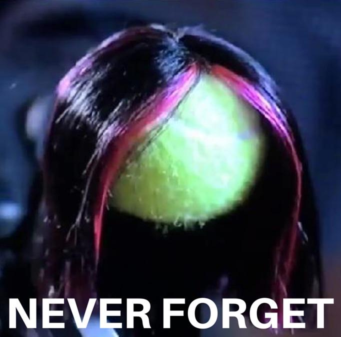 pretty little liars tennis ball wearing a wig
