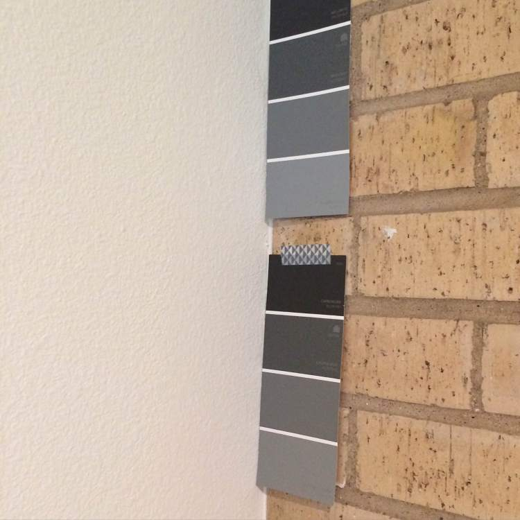 Paint options for our brick fireplace