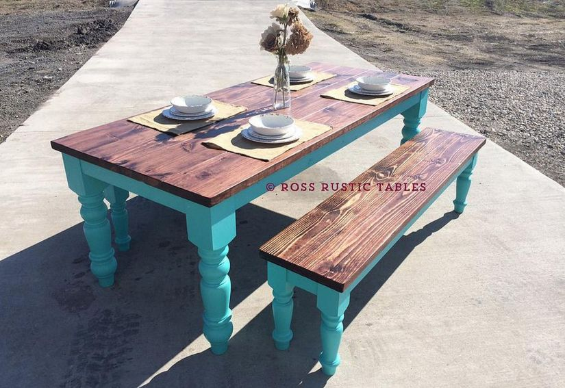 Rustic Cottage Dining Table from Ross Rustic Tables