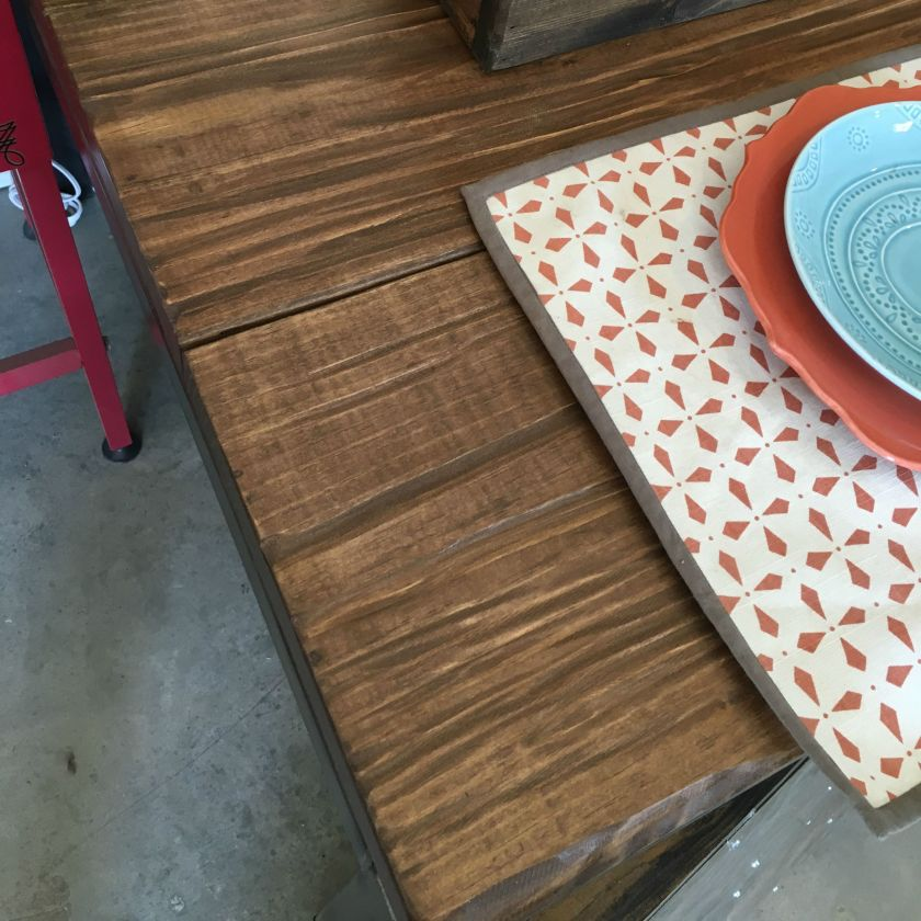 Dining Table Stain Choice for Ross Rustic Table