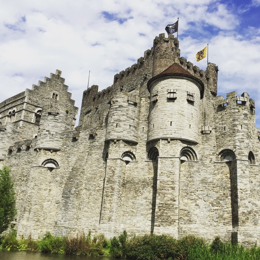 Gravensteen castle in Ghent, Belgium, built in 1180.