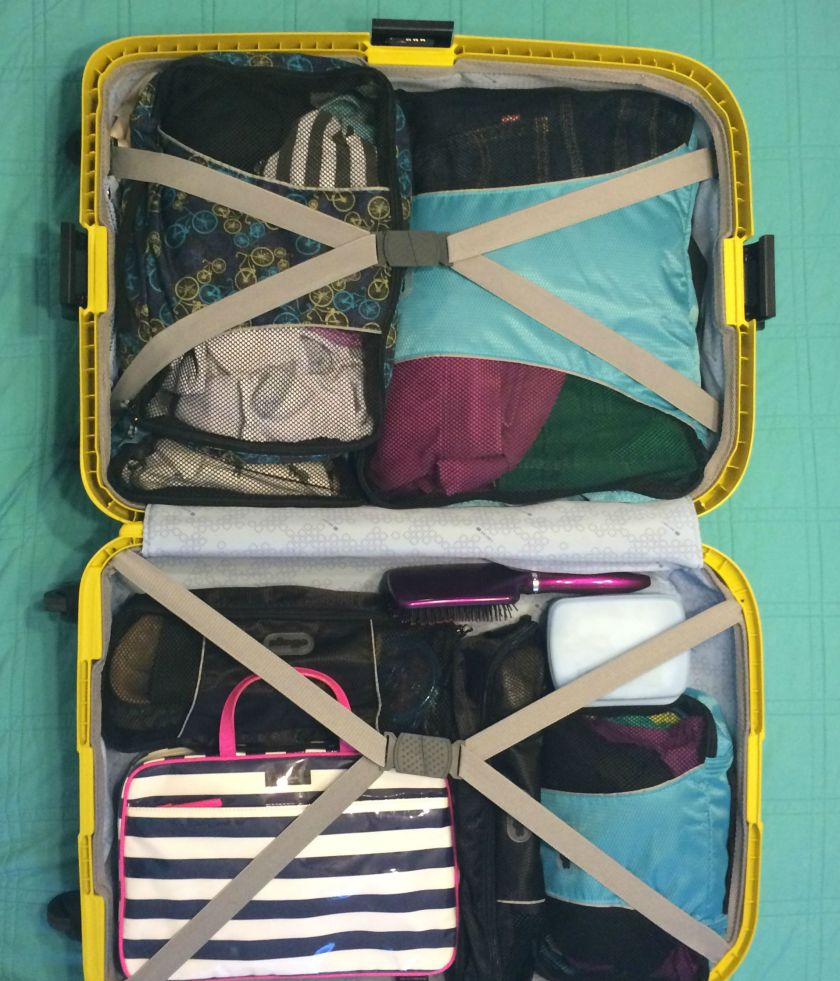 Suitcase Packed for 2.5 Week Trip