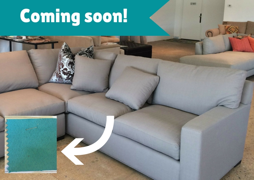Our new sectional and fabric swatch