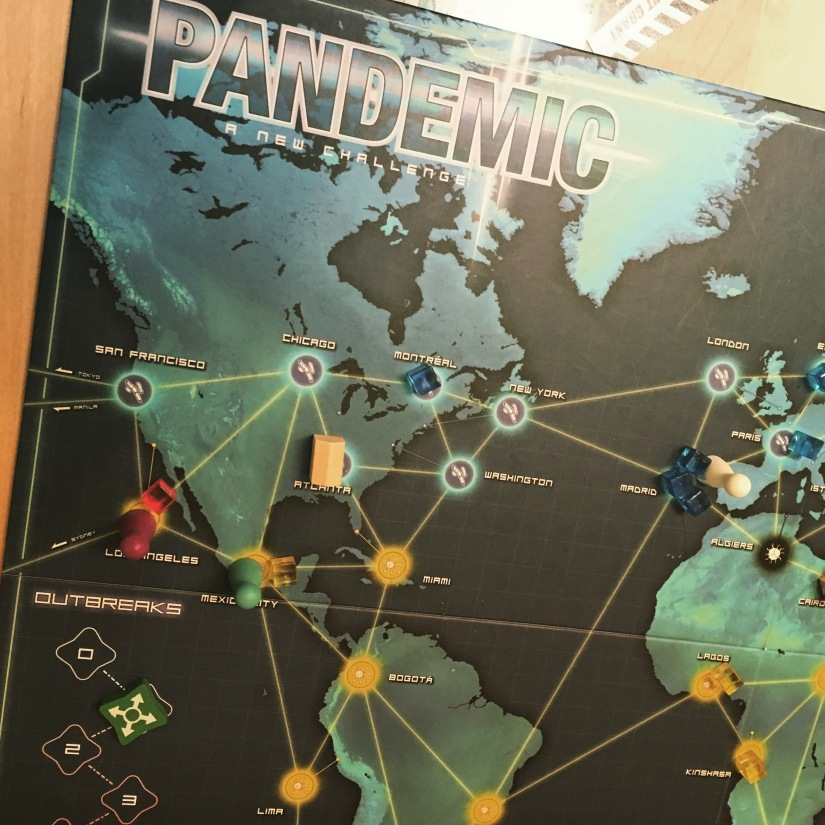 Playing Pandemic, a board game