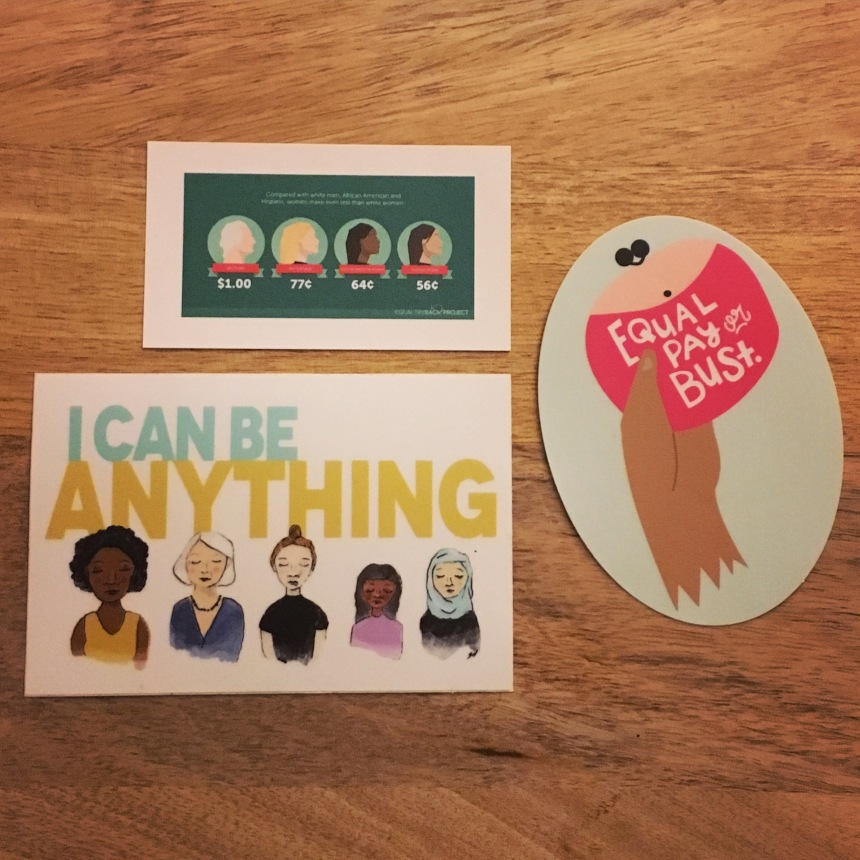 Some favorite stickers from Feminist Sticker Club