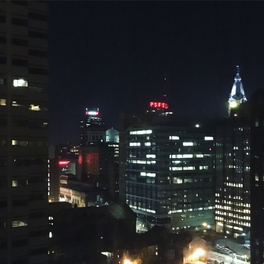 Philly from my hotel room