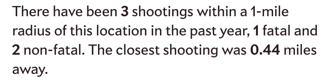 Shootings Near Me, from Slate