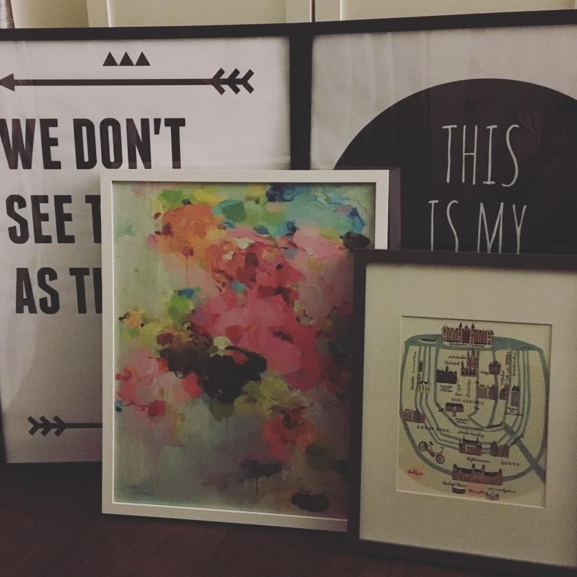 Newly framed art prints