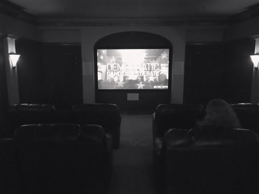 Democratic Debate in the theater room