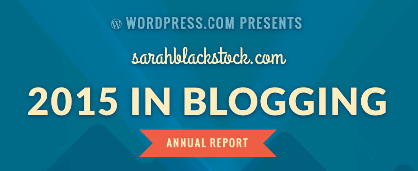 Screenshot from wordpress.com 2015 annual report for sarahblackstock.com