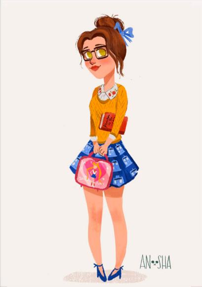 Belle by FoxvilleArt on Etsy