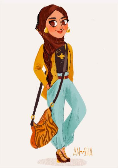 Jasmine by FoxvilleArt on Etsy