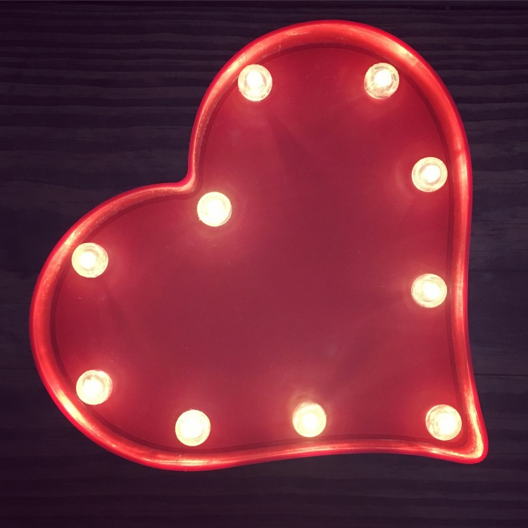 Valentine's Day Heart Marquee