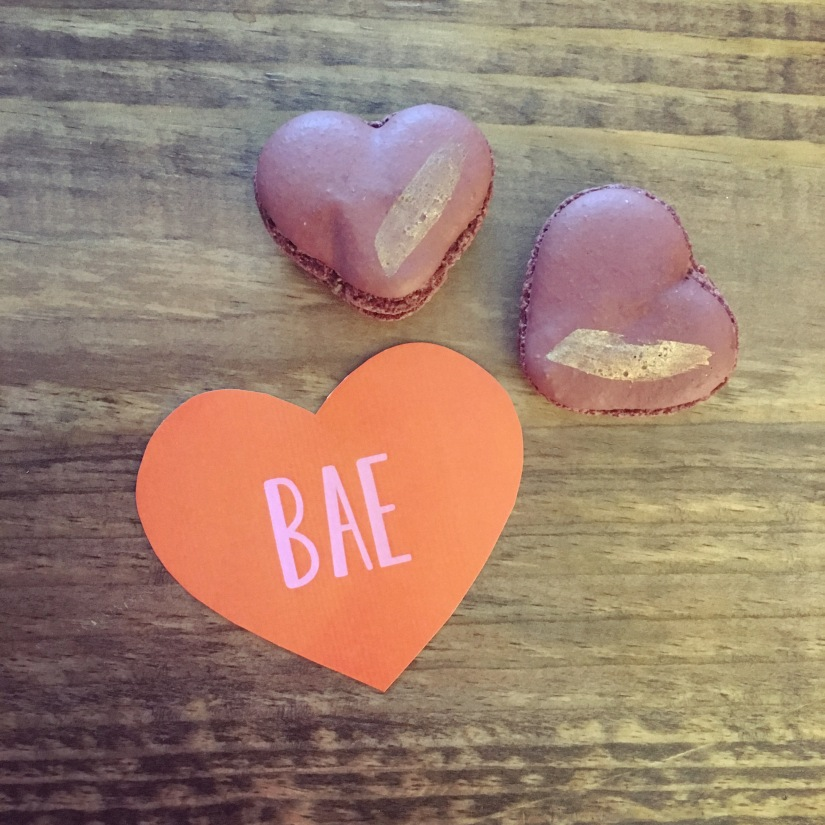 Valentine's Day macarons from Haute Sweets in Dallas