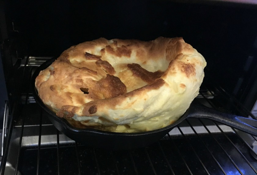 Dutch Baby, fresh out of the oven