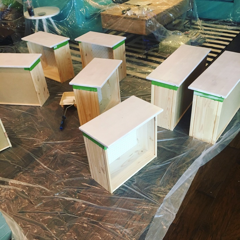 Painting dresser drawers