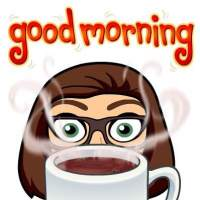 sarah bitmoji good morning
